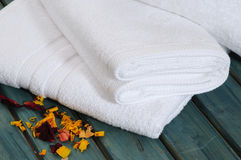 Bath towel. Royalty Free Stock Image