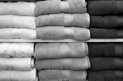 Bath towel black white Stock Photography