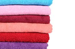 The bath towel isolated on white Royalty Free Stock Photo