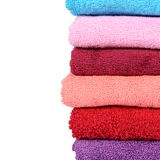 The bath towel isolated on white. Background royalty free stock photography
