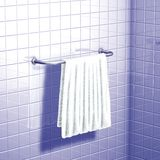 Bath towel white Royalty Free Stock Image