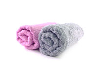 Bath towel on white background Royalty Free Stock Photography