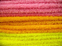 Bath towels. The closeup of some bath towels stock image