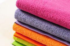Bath towels. Royalty Free Stock Photo