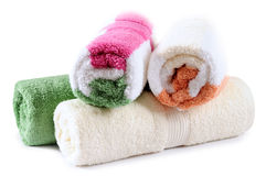 Bath towels. Stock Images
