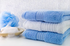 Bath Towels stock photos