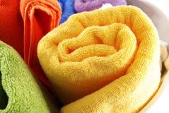 Bath towels Stock Images