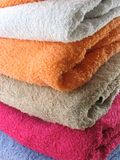 Bath Towels. Folded bath towels stock photos
