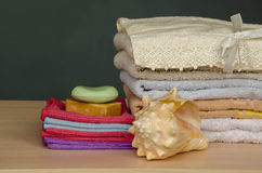 Bath towels bathing towels Stock Photo