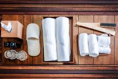 Bathroom Accessories. Bath Towels and Bathroom Accessories stock image
