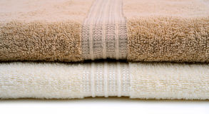 Bath towels closeup Royalty Free Stock Photos