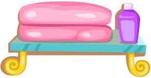 Bath towels royalty free illustration