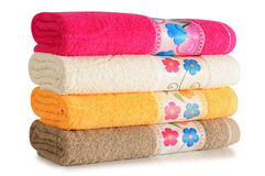 Bath Towels. Isolated Royalty Free Stock Photos