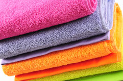 Bath towels. Isolated Royalty Free Stock Photo