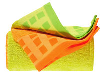 Bath towels. Isolated Stock Image
