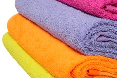 Bath towels. Isolated Royalty Free Stock Image