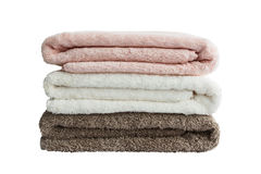Bath towels. Isolated. Bath towels on white background Royalty Free Stock Photo
