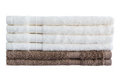 Bath towels in stack isolated Stock Photography