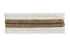 Bath towels in stack isolated Stock Images