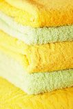 Bath towels stacked Stock Images