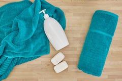 Bath Towels. A studio photo of bath towels Royalty Free Stock Photos