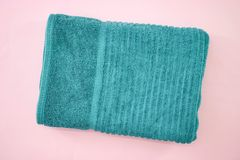 Bath Towels. A studio photo of bath towels Royalty Free Stock Photography