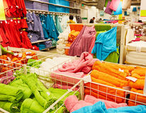 Towel towels supermarket retail shop store Stock Images
