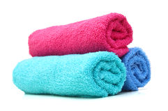 Bath towels Stock Photos