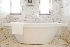 Bath tub. A separate tub placed in the room royalty free stock photos