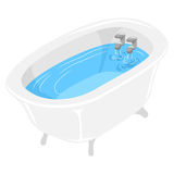 Bath Tub filled with water. Vector Illustration of Bath Tub filled with water Stock Image