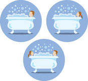 Bath tub icons Stock Photography