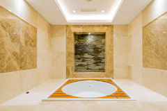 Bath tub in the modern interior Royalty Free Stock Image
