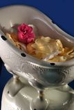 Bath tub with rose petals Stock Photo