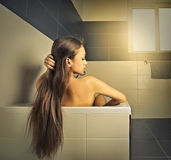In the bath tube Royalty Free Stock Images