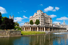 Bath, UK. Bath riverside panoramic view, UK Stock Photo