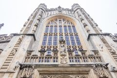 Bath Abbey in UK. Bath, UK - December 18, 2016: View of the The Abbey Church of Saint Peter and Saint Paul, Bath, commonly known as Bath Abbey in Somerset ,Bath Royalty Free Stock Images