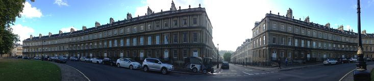 Bath United Kingdom. Exquisite Georgian Architecture in the city of bath. This panorama tries to do justice Royalty Free Stock Images