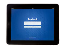 IPad Facebook App Stock Photo