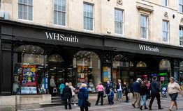WH Smiths Bath stock image