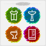 Bath utensils Royalty Free Stock Images