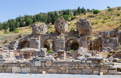 Bath of Varius ruins, Ephesus, Turkey Stock Photos
