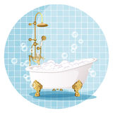 Bath. Vector illustration. Stock Photo
