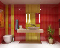 Bath wc interior design Stock Photography