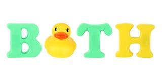 Bath word Stock Image
