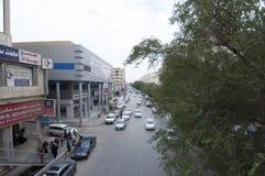 Batha Steet,汽车通行在老利雅得,沙特阿拉伯, 01 12 201 库存图片