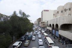 Batha Steet,汽车通行在老利雅得,沙特阿拉伯, 01 12 201 库存照片