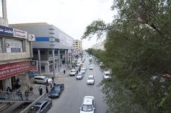 Batha Steet, samochodu ruch drogowy w Starym Riyadh, Arabia Saudyjska, 01 12 201 Zdjęcia Royalty Free
