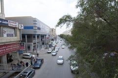 Batha Steet, tráfego de carros em Riyadh velho, Arábia Saudita, 01 12 201 Foto de Stock Royalty Free
