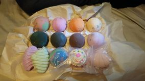 Bathbomb collection Royalty Free Stock Photography