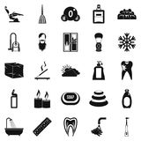 Bathe icons set, simple style Stock Images
